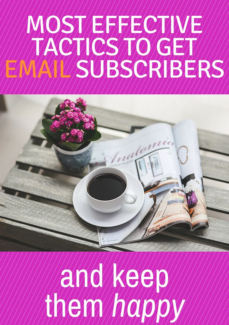 It is time to think outside the box! You know how important it is to get email subscribers but in order to keep them, you need to give them value. Click through for my tips.