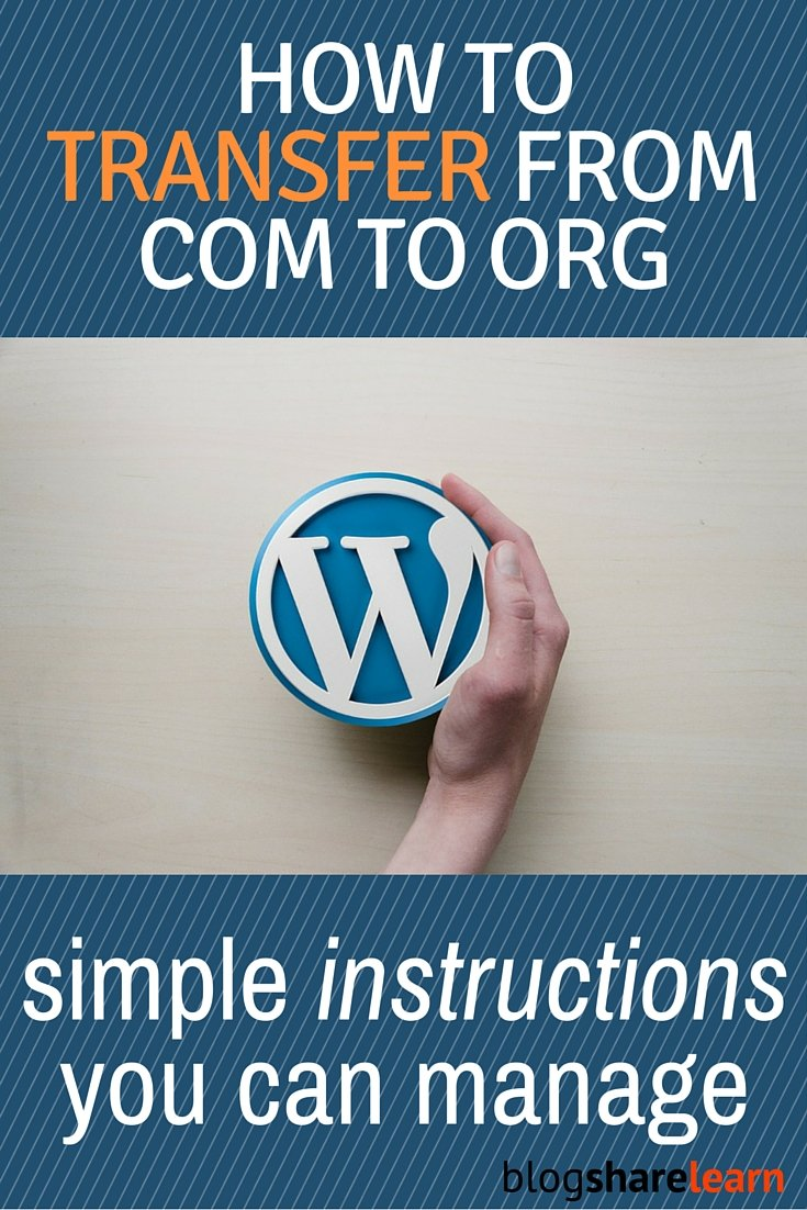 Have you been thinking of going self-hosted? Follow my easy to follow tutorial on how to transfer (migrate) your wordpress blog from .com to .org on your own. Step by step instructions outlined with pics. I did it and so can you!