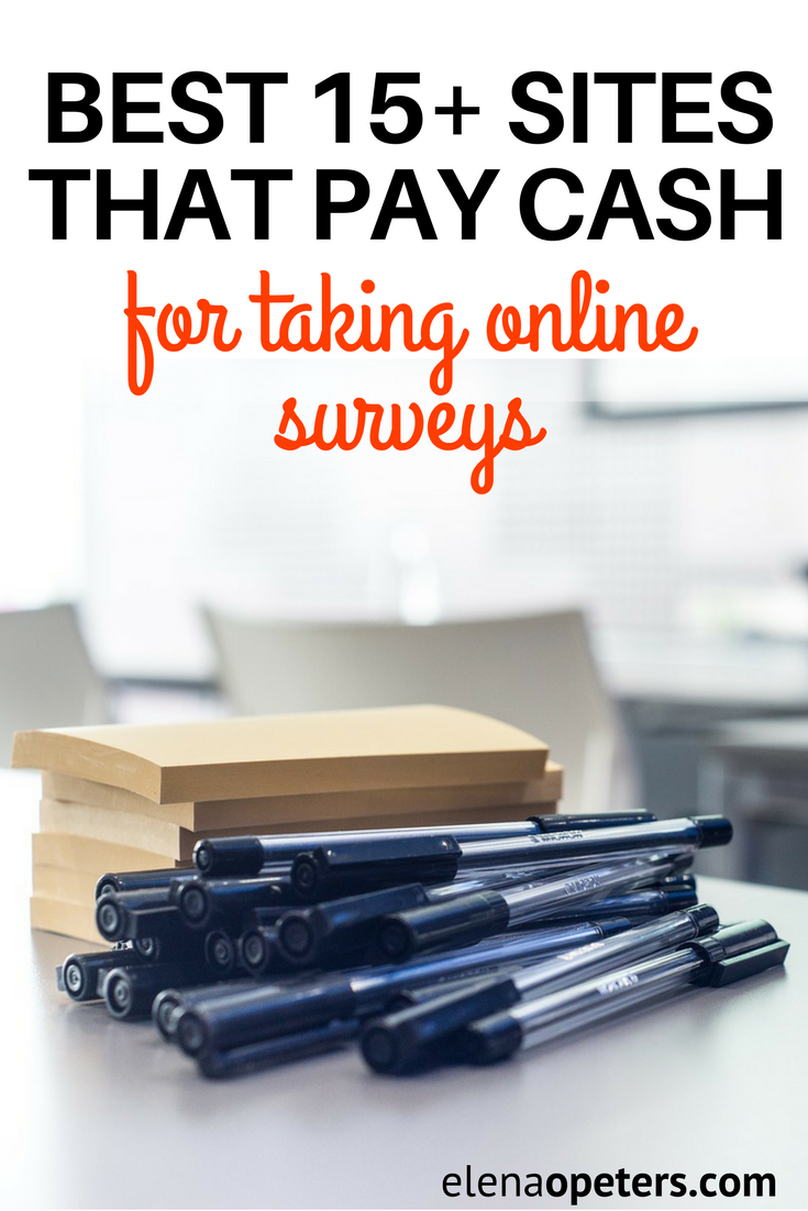 Did you know you could make cash money from home taking online surveys? Here are the best 15+ sites that pays cash! Great side hustle!