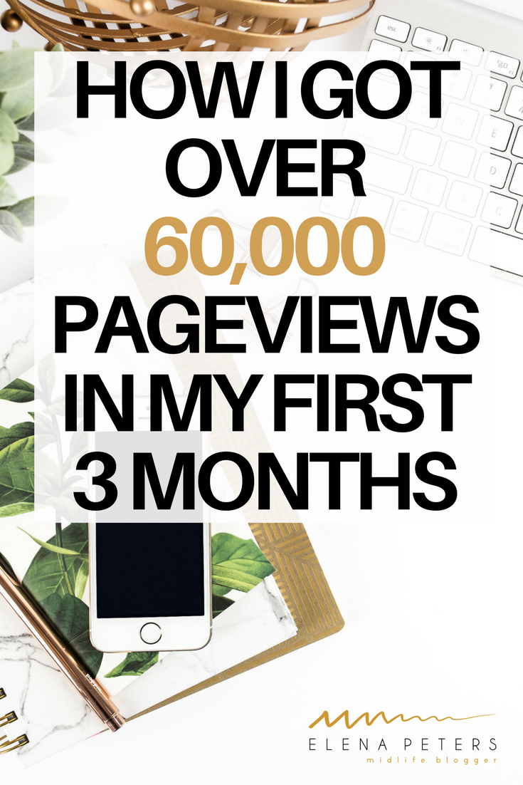 Check out my blog traffic report. Find out my tips and tricks on how I received 60,000 pageviews in my first 3 months blogging. #blog #bloggingtips #increasetraffic