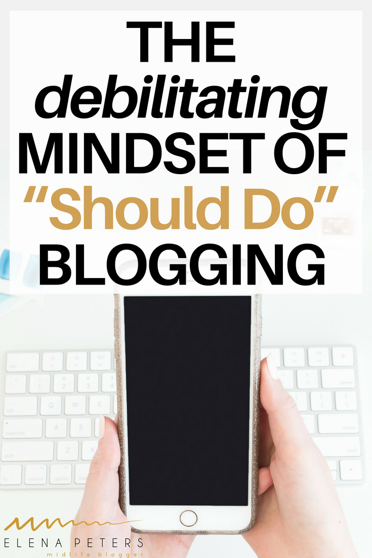 It has taken me a long time to let go of the roadmap created by other bloggers' successes. If you are on the brink of calling it quits, see if any of the following should do's are responsible for your current mindset. #blogging
