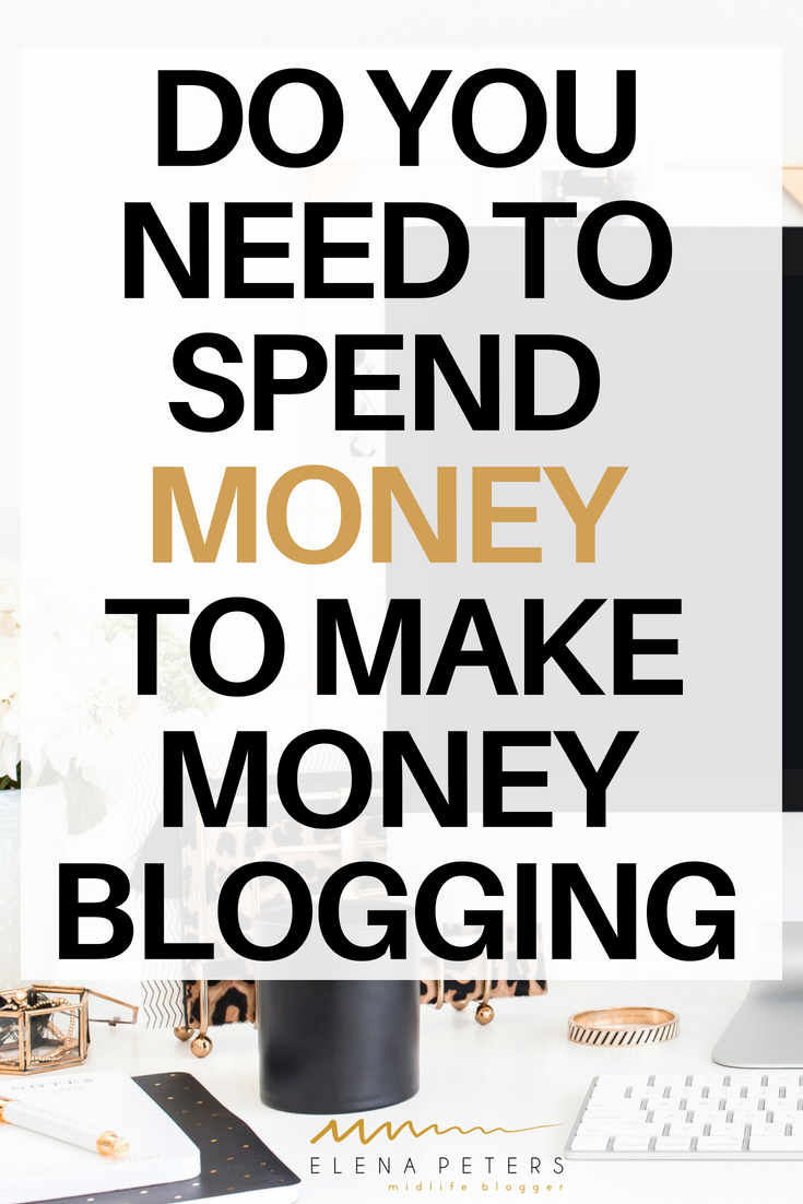 Are you struggling with your blogging business? Are you thinking about spending money to take you blog to the next level? Here is what I think about spending money to make money blogging and when I think you should. #blogging