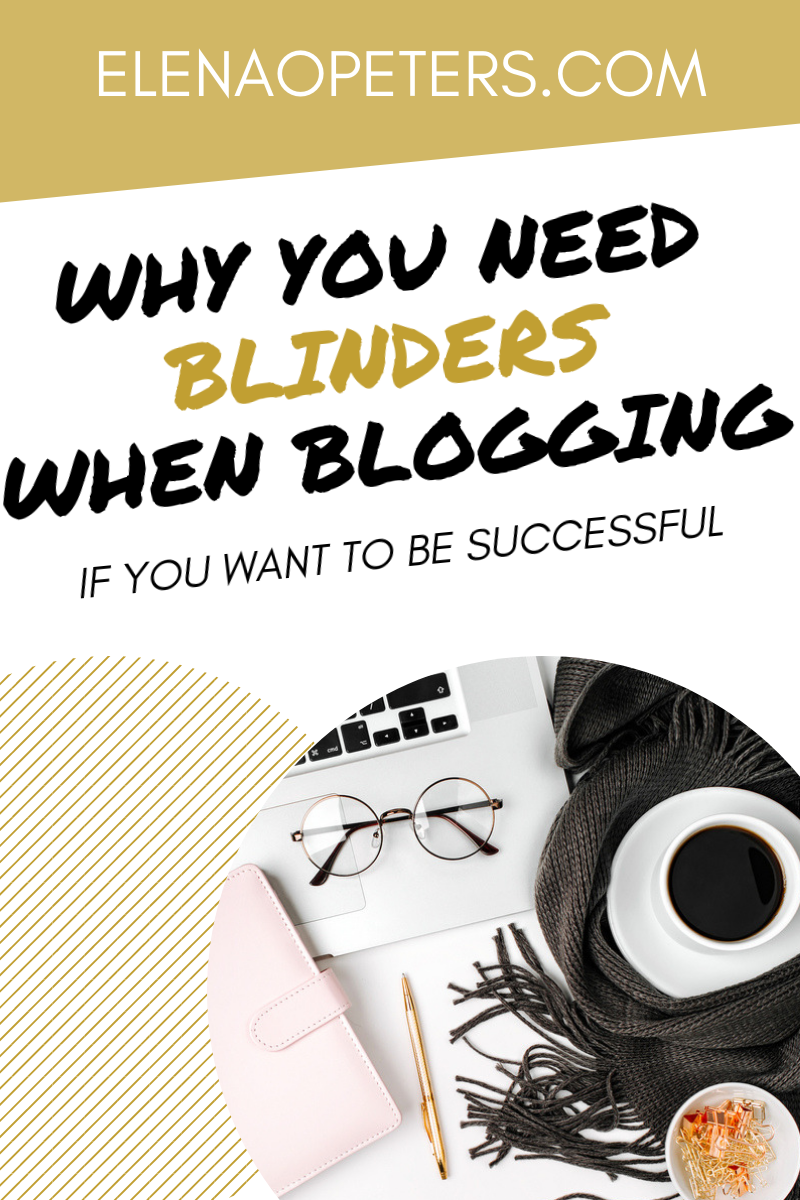 Are you struggling with information overload when blogging? Maybe you need blinders. #blogging
