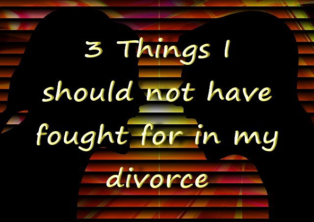 3 Things I fought for when I divorced that caused me grief, stress and lengthened the divorce proceedings considerably.