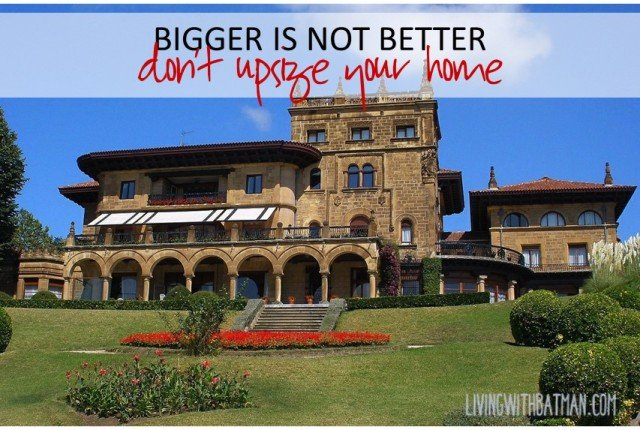 Bigger is not always better if you are saddles with large debt, an empty house and no money to do anything. Downsizing your home came bring you back to life.