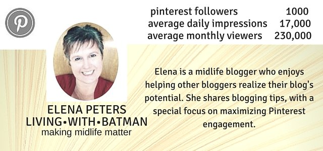 Elena Peters of LIVING•WITH•BATMAN is now offering a Pinterest Analysis Service. A thorough examination and personalized strategy created to help increase your Pinterest engagement and referrals.