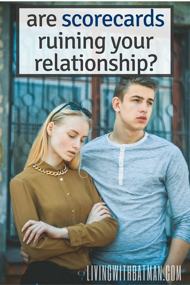 Relationships can be like a see-saw. One carries more of the load then the other at varies times. But what if you are constantly keeping score?