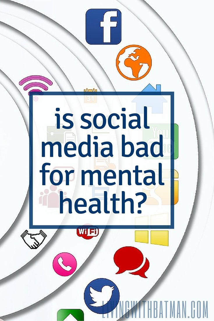 The web is a source of information & a way to connect w/others in similar situations. It can give hope & support but is social media bad for mental health?