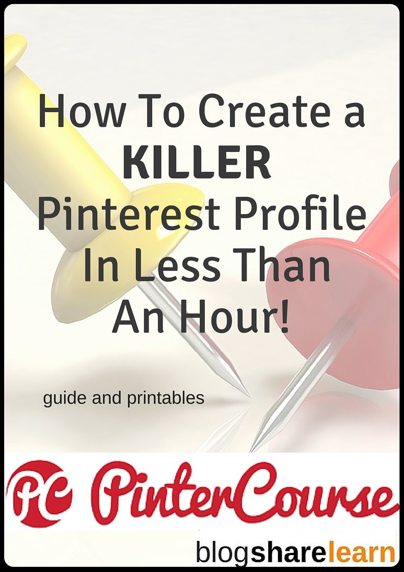 Are you ready to harness the power of Pinterest? Create a brand, increase your followers and boost your pageviews by optimizing your Pinterest profile. Grab your FREE guide + printables + videos and get started today!