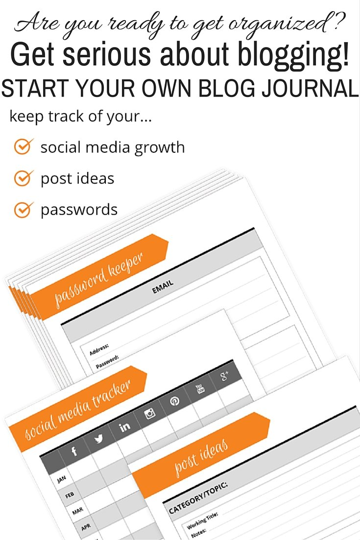Are you ready to get serious about blogging, build a business & make money? It starts with organization. Grab your FREE printables to start your blog journal today.
