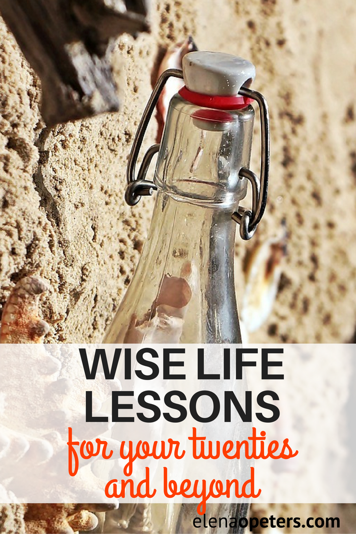 I stumbled upon this post today and was amazed at the wisdom this young blogger was sharing. I wanted to share it today, not necessarily as life advice for twenty somethings but as a reminder for those of us at the mid point and beyond as well.