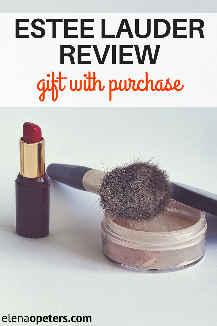 Estee Lauder gift with purchase review. Makeup includes foundation and lipstick. Skin care includes moistirizer.