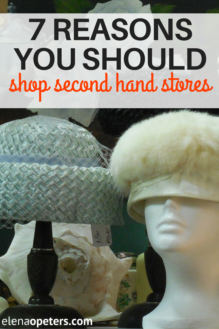 Shopping at a second hand store has more bonuses than just money savings!