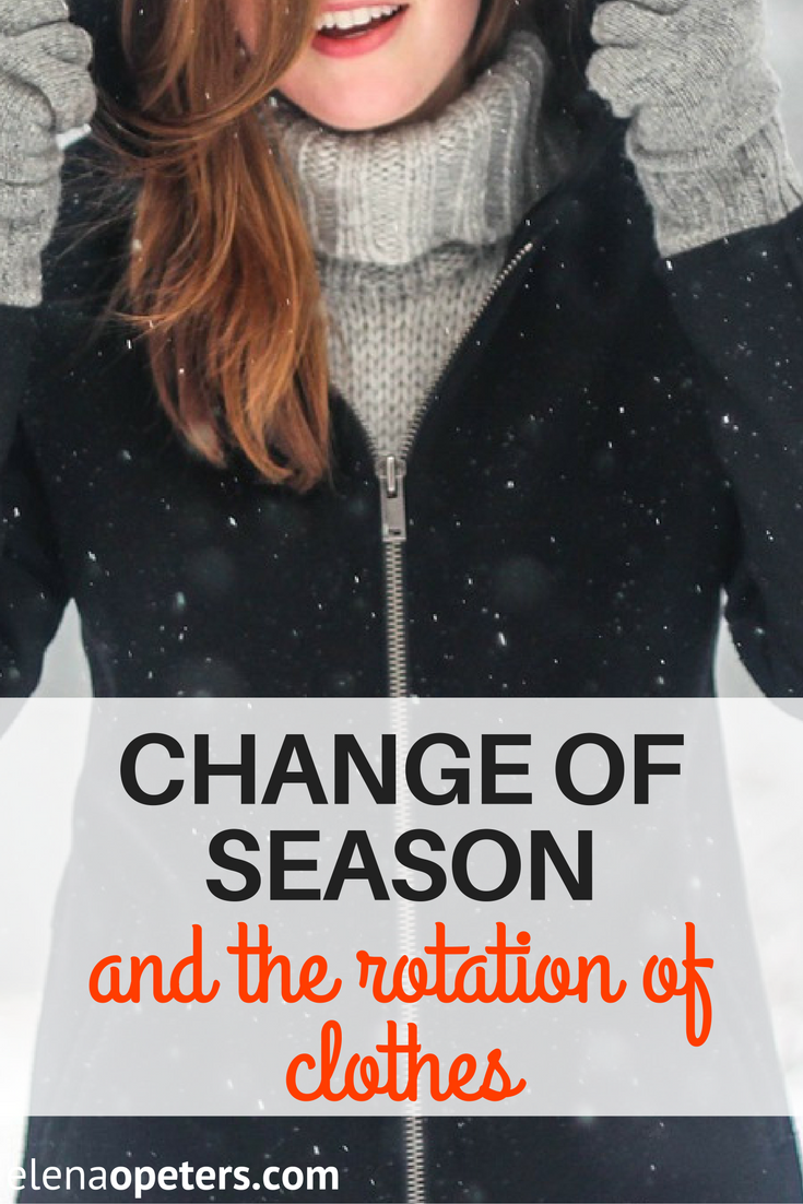 Change of seasons means it is time to swap your summer clothes for warmer, winter clothes. How I hate switching to my winter trousseau.
