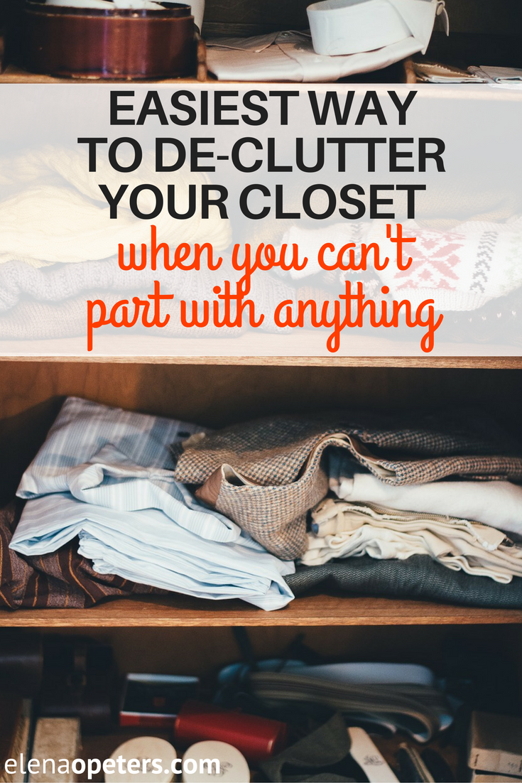 Is your closet over stuffed and you know you must de-clutter and throw stuff out but you just can't do it? I have a great method for you that will have easily part with items you haven't worn in years.