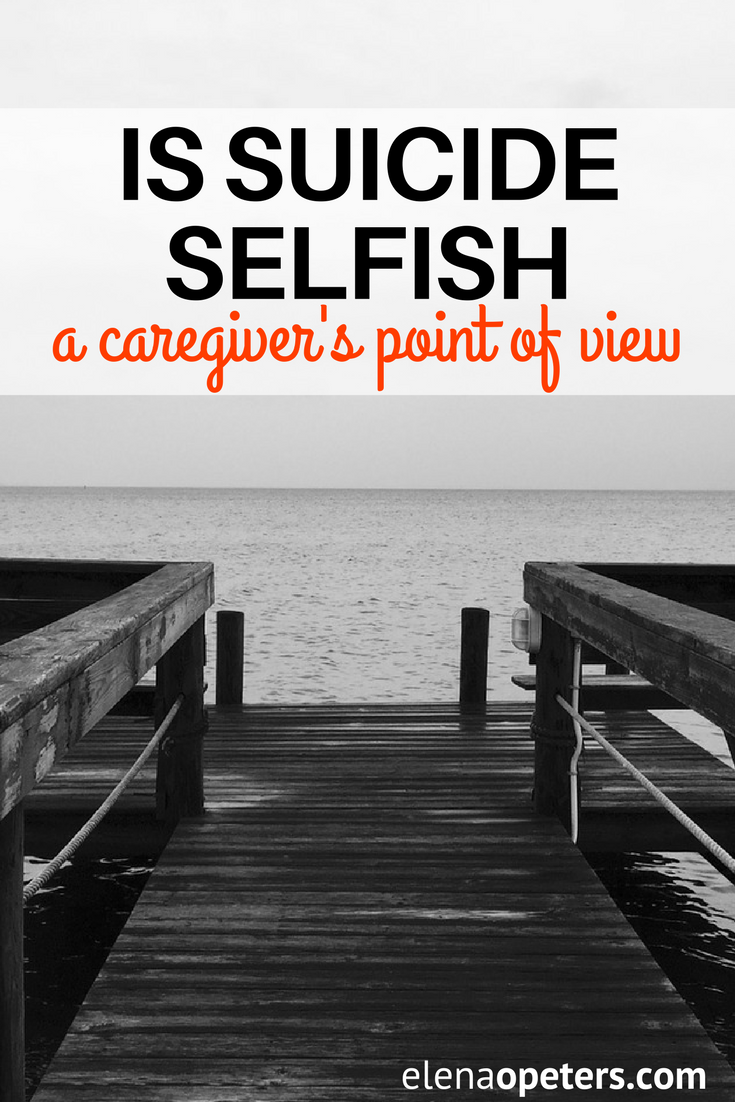 """There has been a lot of talk and backlash from the mental health community about the use of the word """"selfish"""" in regards to suicide. I felt as though I had to speak out as the caregiver of a spouse who has bipolar disorder."""