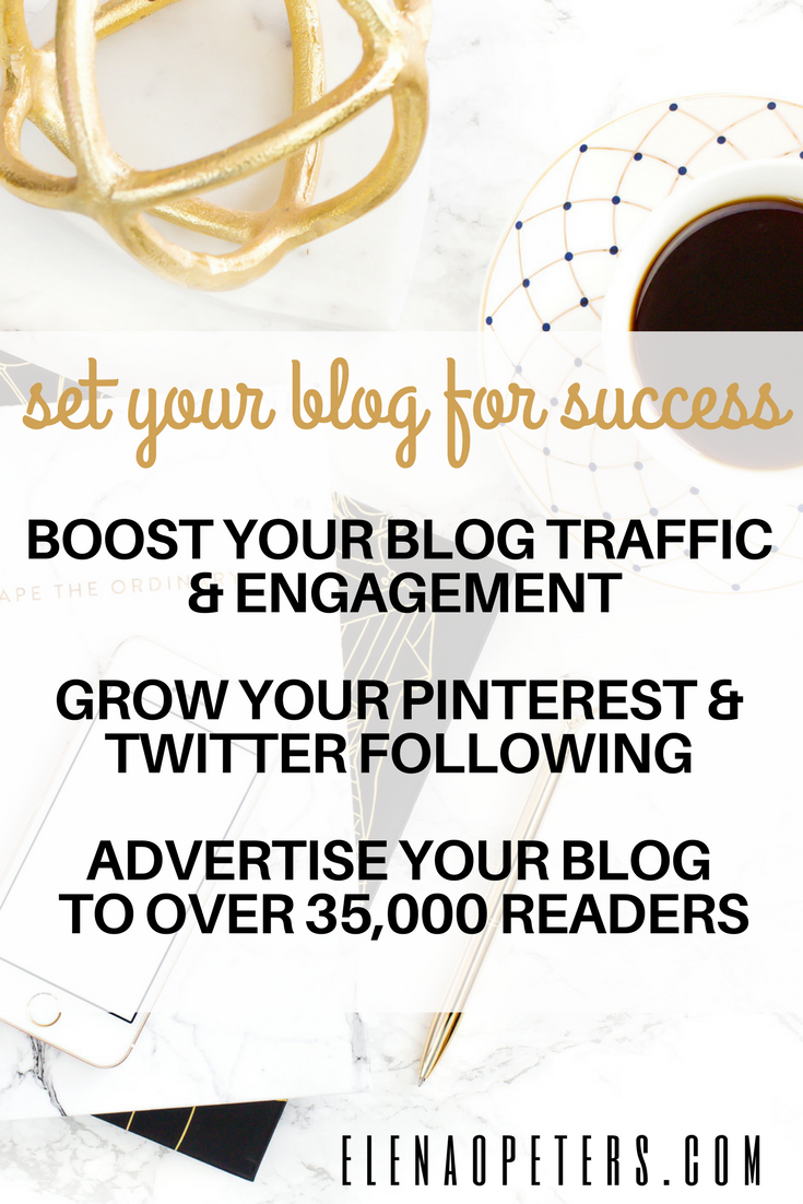 Featuring two advertising package offers plus an amazing course bundle that together are bound to help you boost your Pinterest and Twitter following and engagement. Ultimately driving oodles of new traffic to your blog.