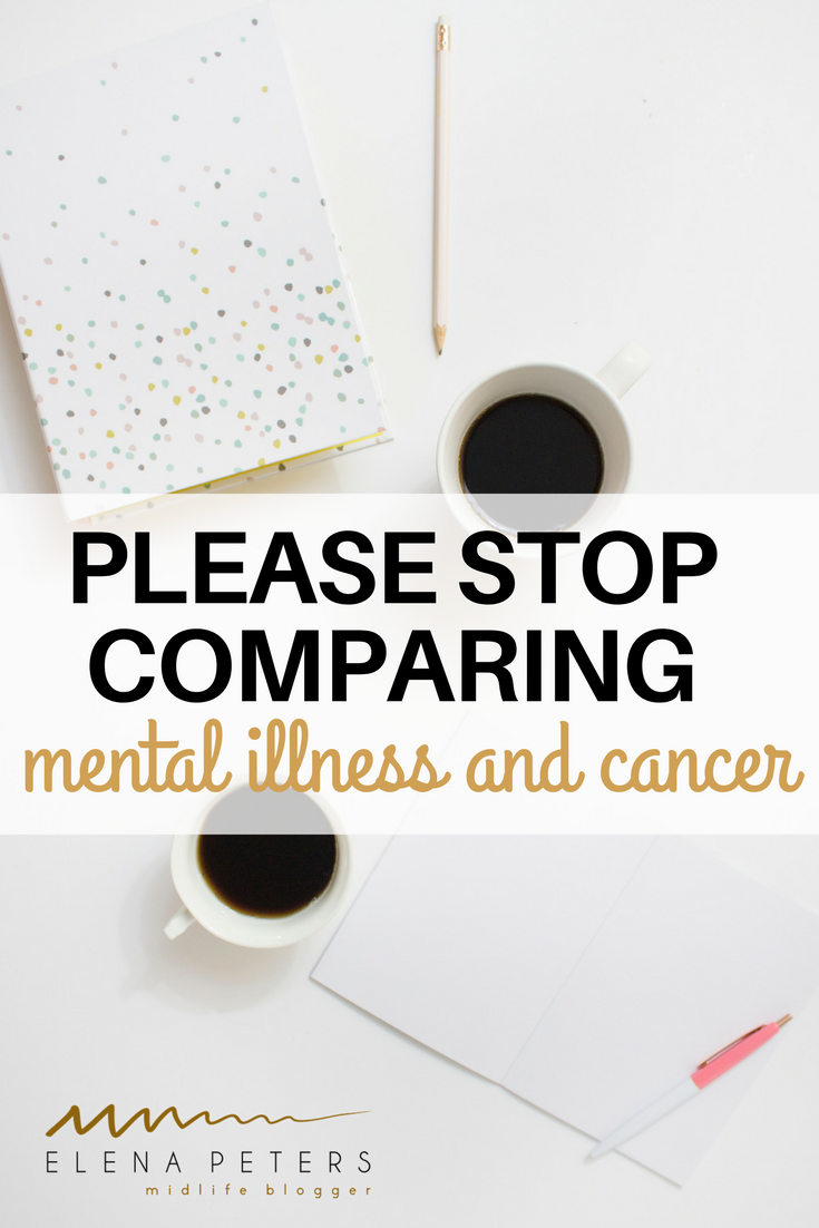 I do not understand why the need to compare illnesses to get the point across. I think it's childish. This isn't a competition on who has it worse.