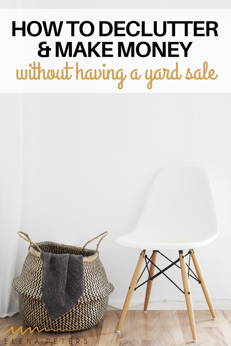 If you are like me and hate the thought of having a garage sale but want to make some money by getting rid of stuff you don't need anymore, here is a list of 5 different ways you can make that happen.