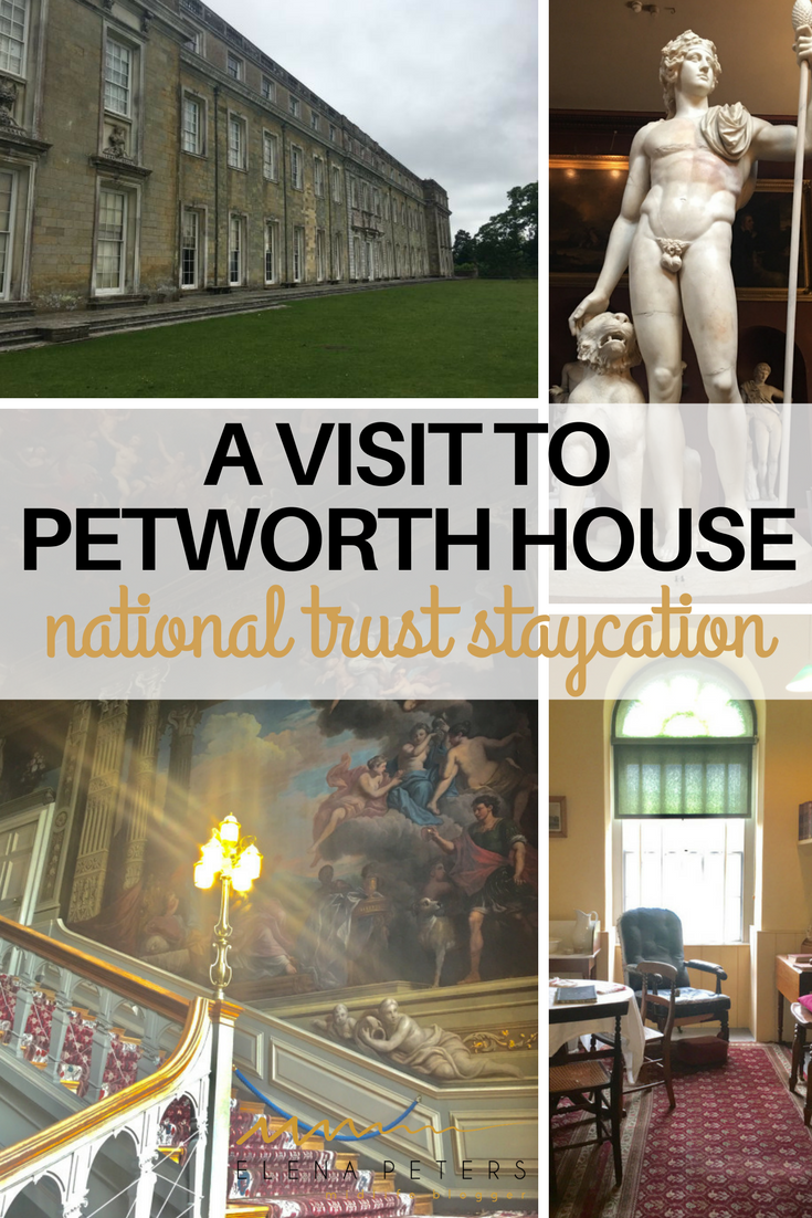 Petworth House in the parish of Petworth, West Sussex. It is a late 17th-century, baroque style, country house nestled in the South Downs. For centuries it was the southern home for the Percy family, Earls of Northumberland.