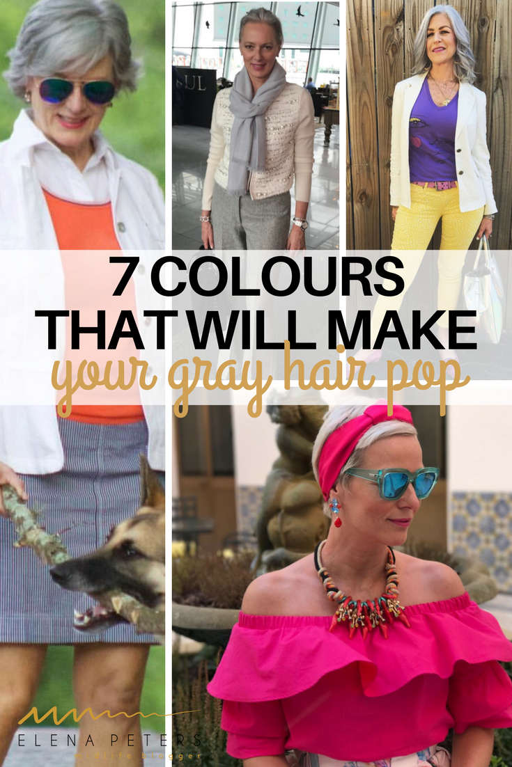 What you need to do is add the RIGHTcolour pieces to your fashion to add warmth to your gray hair, and the proper bright accessories near your face to flatter your features without having to add makeup.