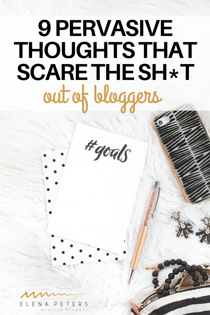 "Bloggers are so hard on themselves. This list was made to show you that you are not alone. Even bloggers you perceive as ""successful"" have these thoughts. #blogging"
