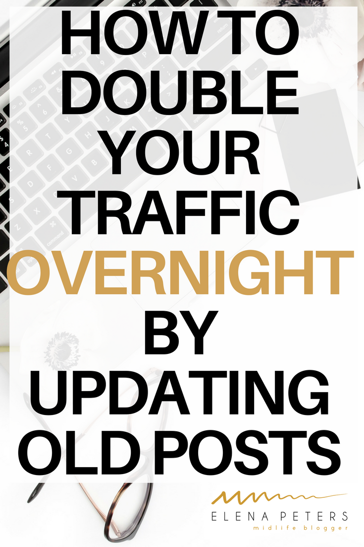Updating old posts can literally double your traffic overnight if you take the time to do it right. Click through for my 10 step process plus free checklist!