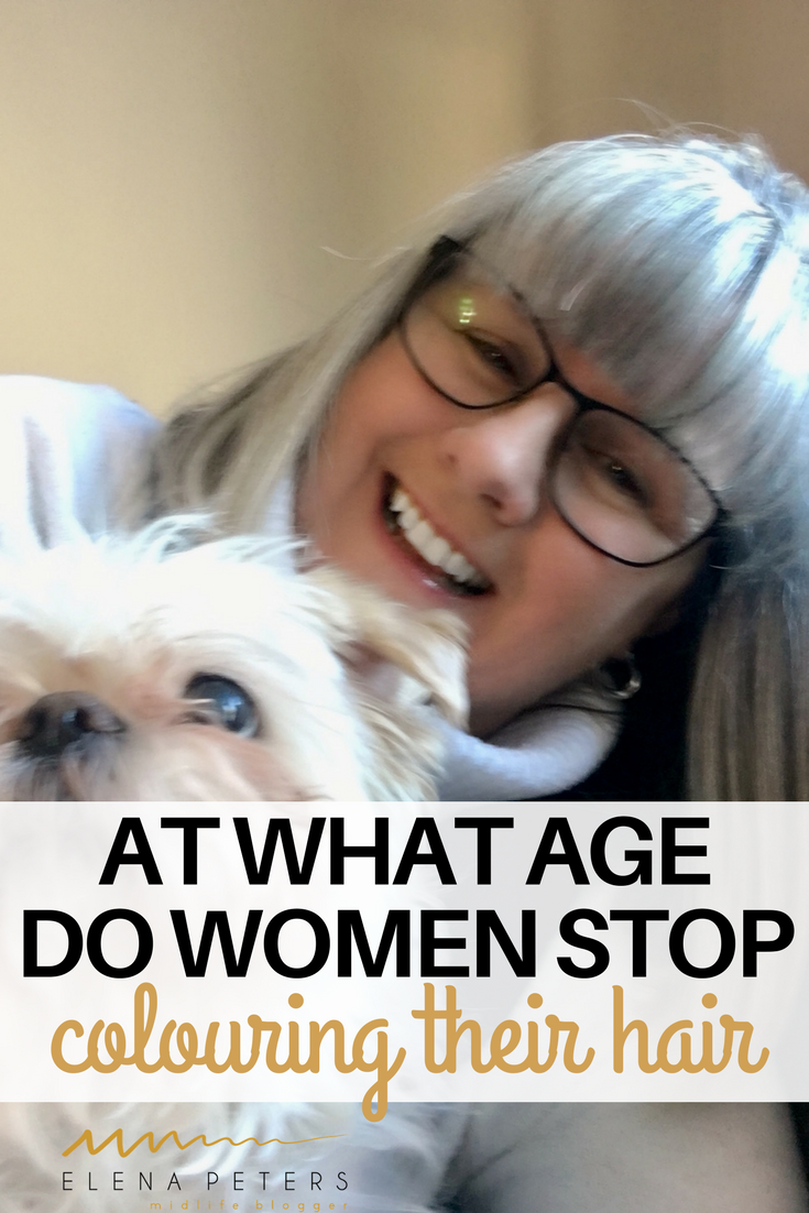 """I polled my readers with this question: """"At what age should you stop dyeing your hair and transition to grey?"""", Here are the results so far with just over 1600 respondents."""