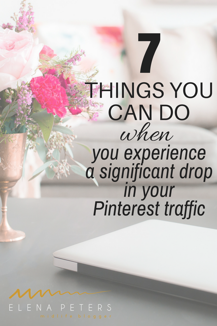 You think you have it all figured out and then boom, your Pinterest traffic takes a sharp down turn. WTF! Here is what I think it is and 9 strategies you can adapt to combat it. #blogging #socialmedia #pinterest