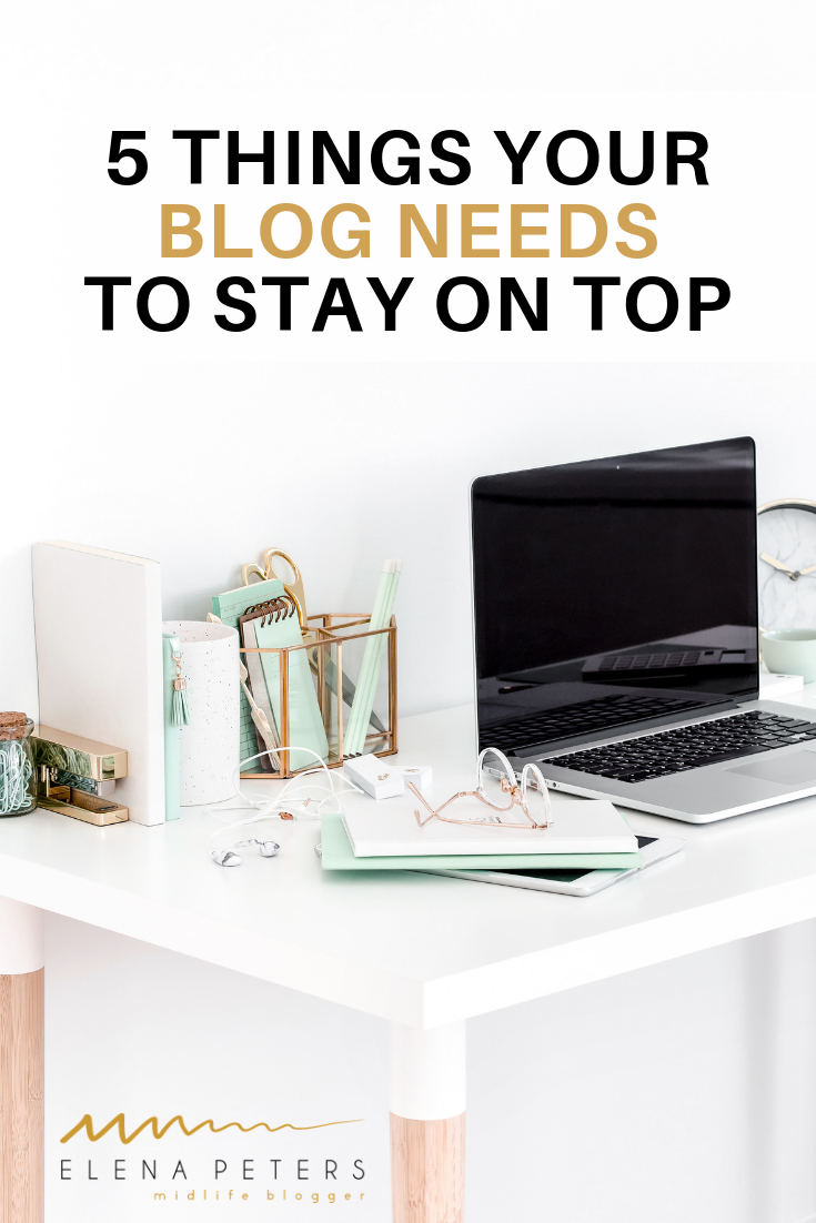 Are you wondering what you need to take your blog from hobby to business? Click through to find out what things you need to stay on top! #blogging