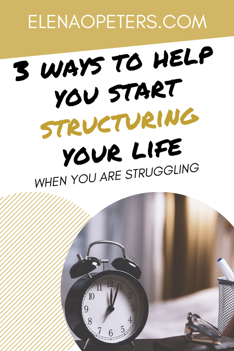 In order to achieve anything in life – whether that's having a productive and uplifting relationship with your family, or making a small business venture successful – being able to exercise a bit of discipline, focus, and structure, is invaluable.So, if you don't know where to start when it comes to structuring your life, here are 3 suggestions.