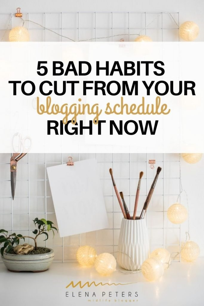 Bad blogging habits may be responsible for your lack of focus and low productivity. See if you are guilty of any of these and find solutions to get back in control.